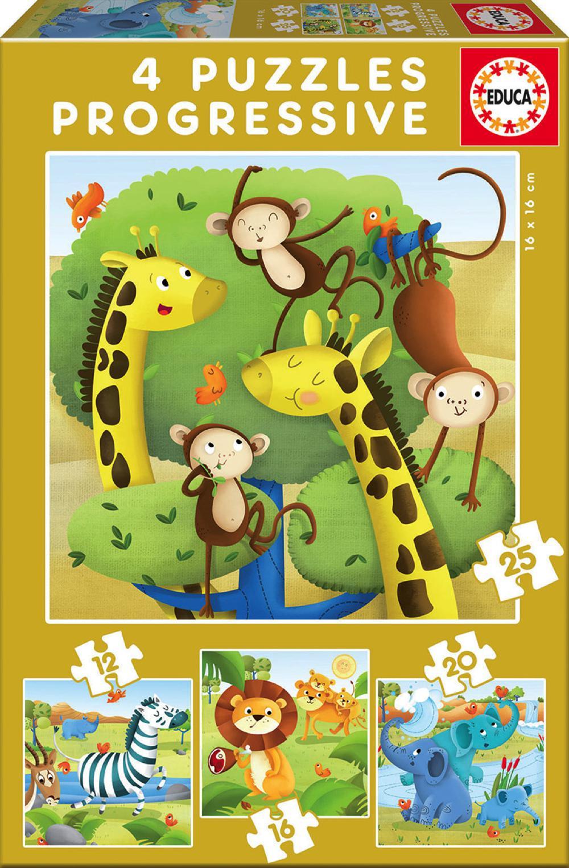 4 Casse-têtes progressifs Animaux de la savane