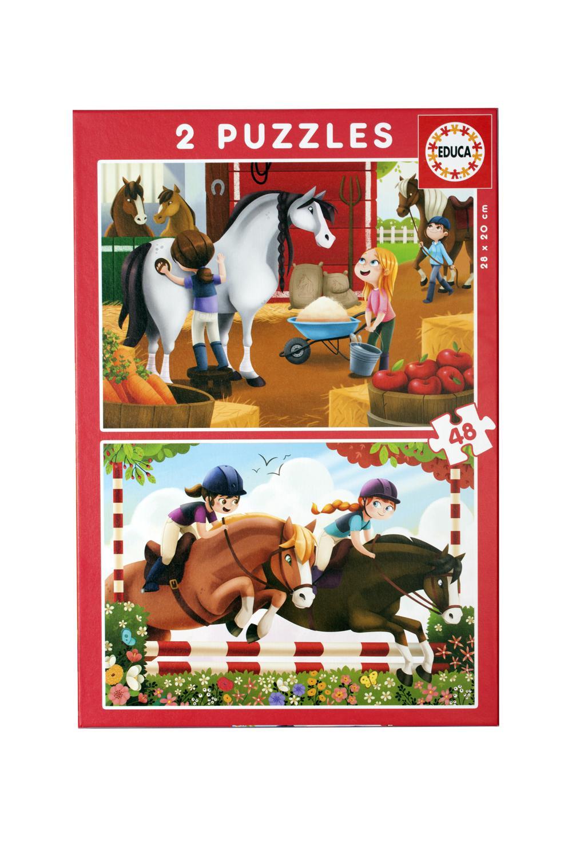2x48 puzzles Horses