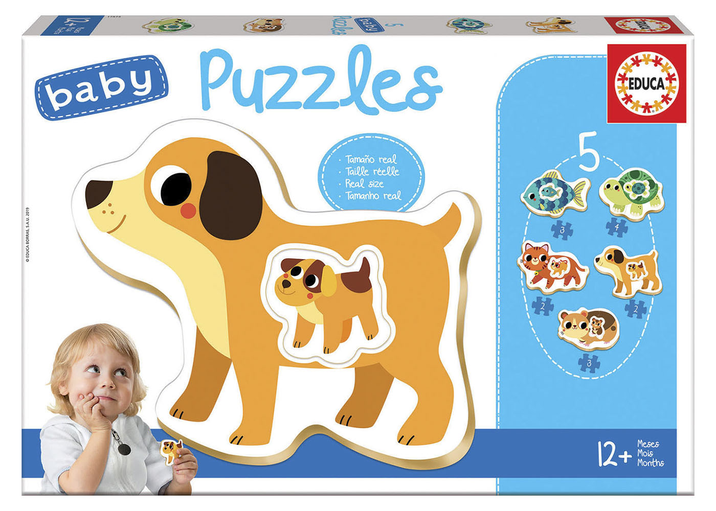 5 Baby Puzzles - Small Animals