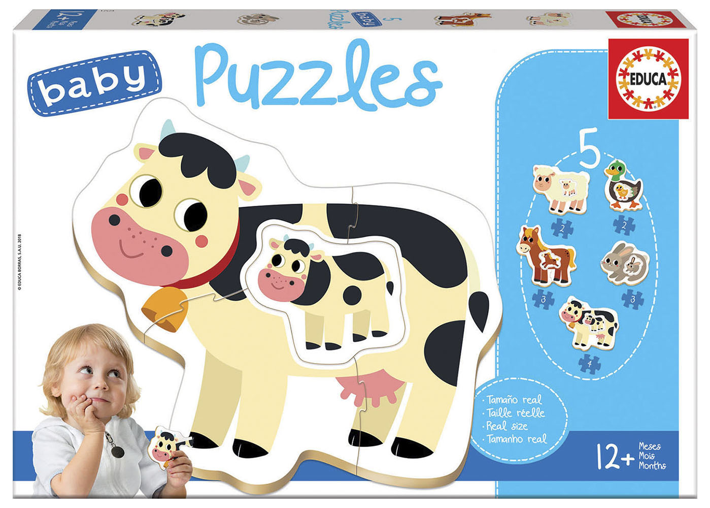 5 Baby Puzzles - The farm