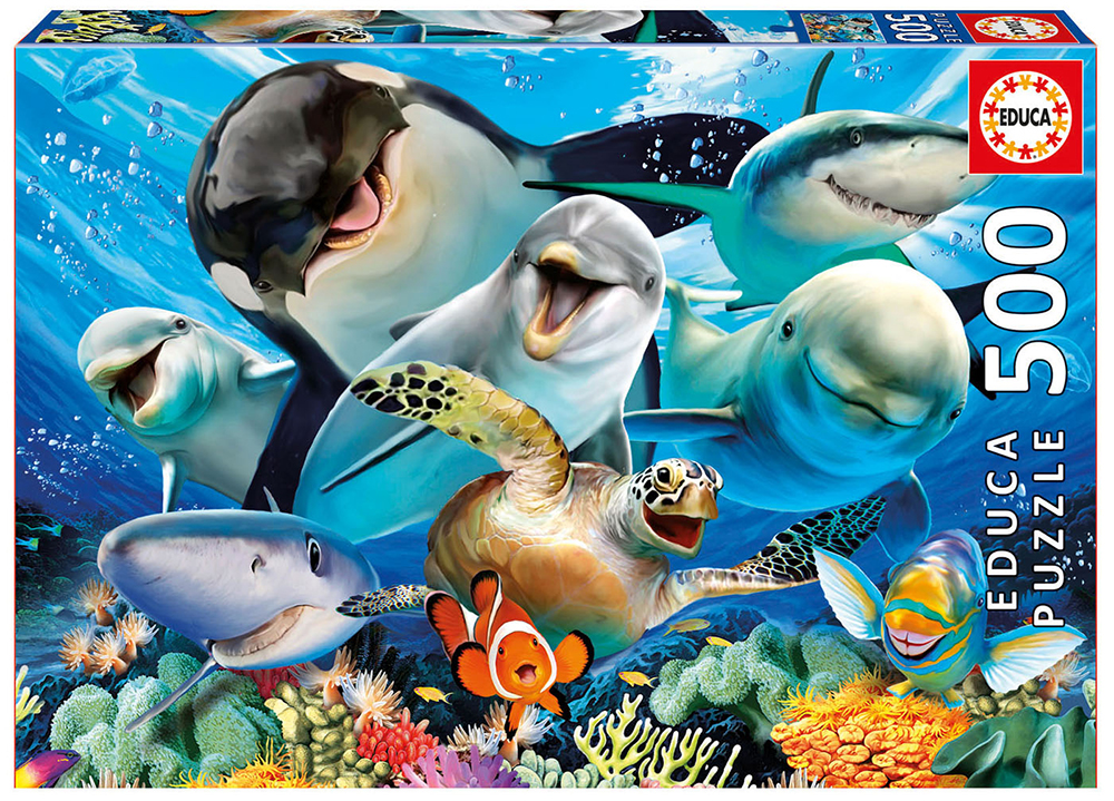 Puzzle 500 Pieces - Underwater selfie