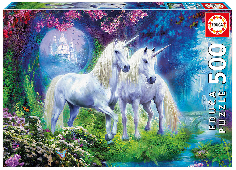 500 pieces puzzle - Forest Unicorns