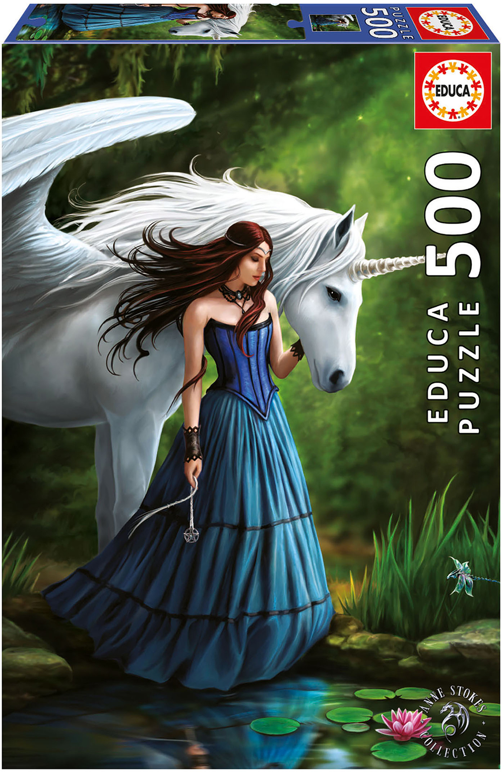 500 pieces puzzle - Enchanted pool Anne Stokes
