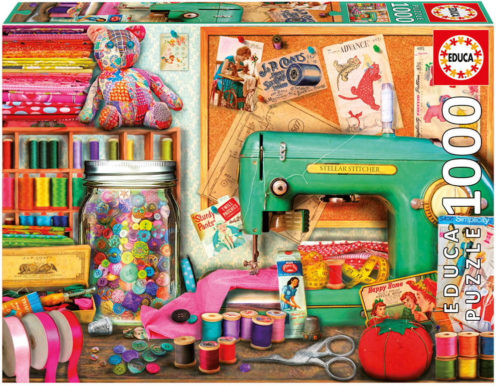 1000 pieces puzzle - Sewing Desk