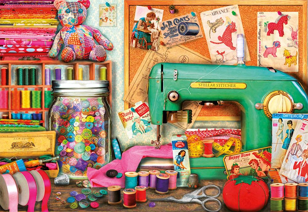 1000 pieces puzzle - Sewing Desk