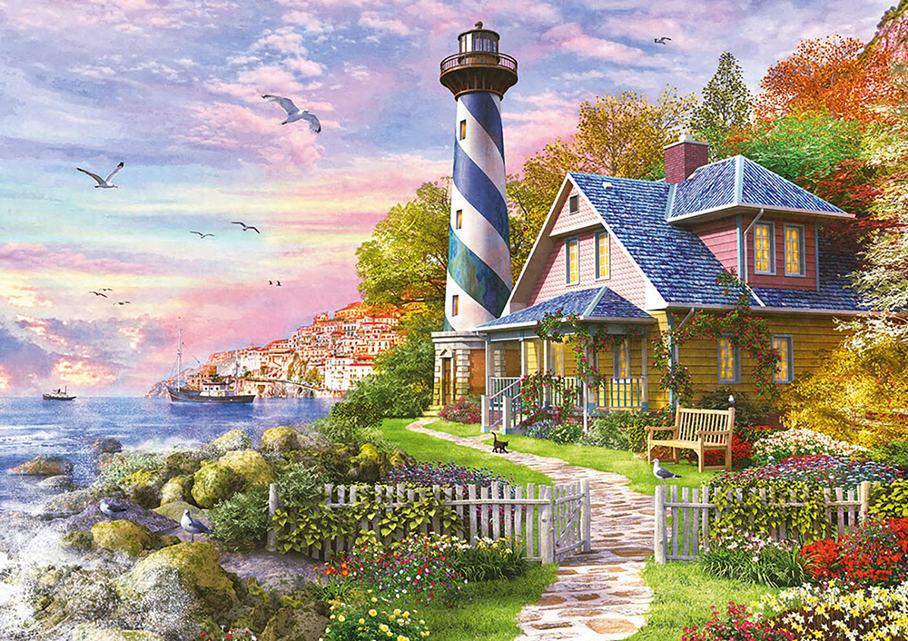 4000 pieces puzzle - Lighthouse at Rock Bay