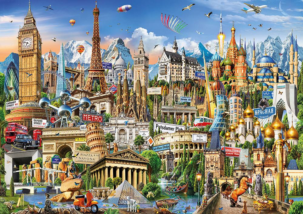 2000 pieces puzzle Europe Landmarks