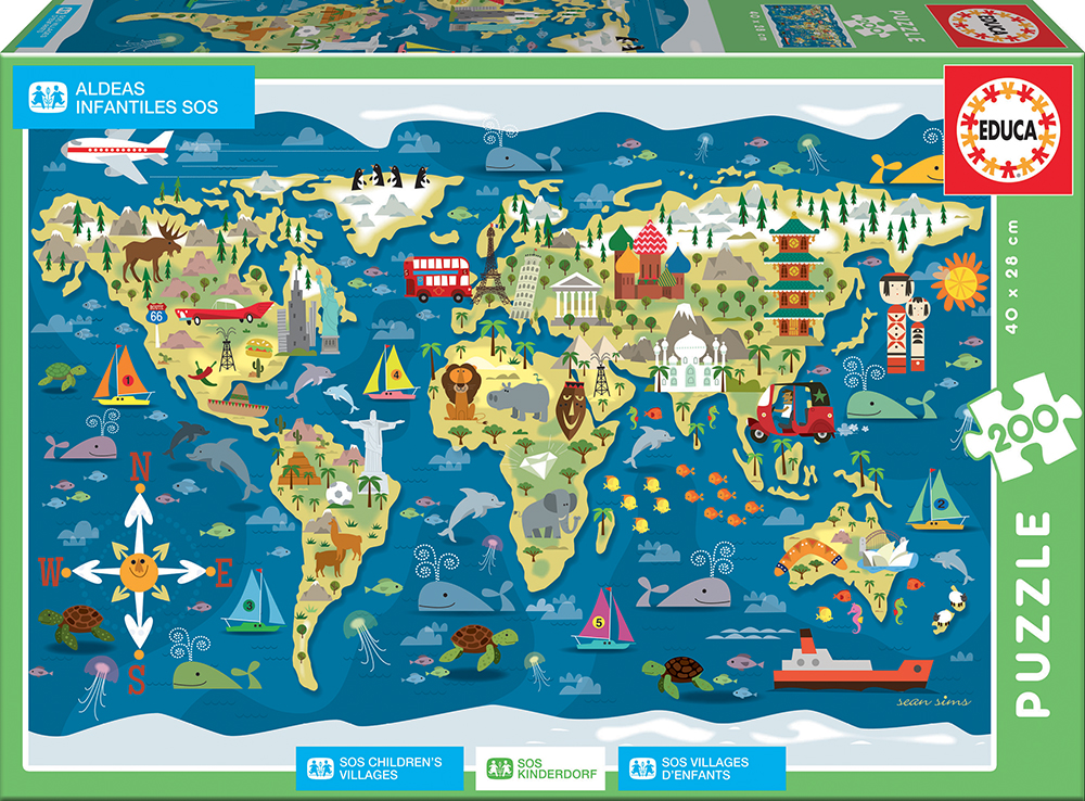200 pieces puzzle - World Map