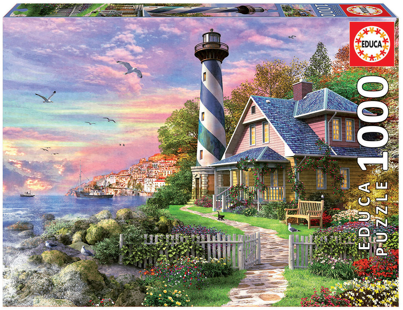 1000 pieces puzzle - Lighthouse at Rock Bay
