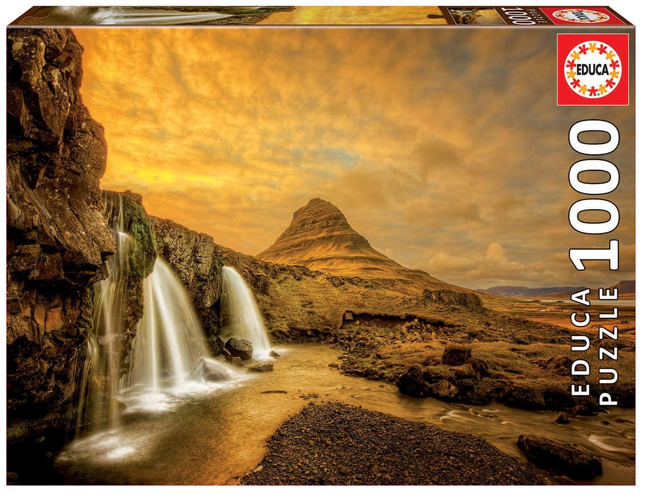 1000 pieces puzzle - Kirkjufellsfoss Waterfall, Iceland