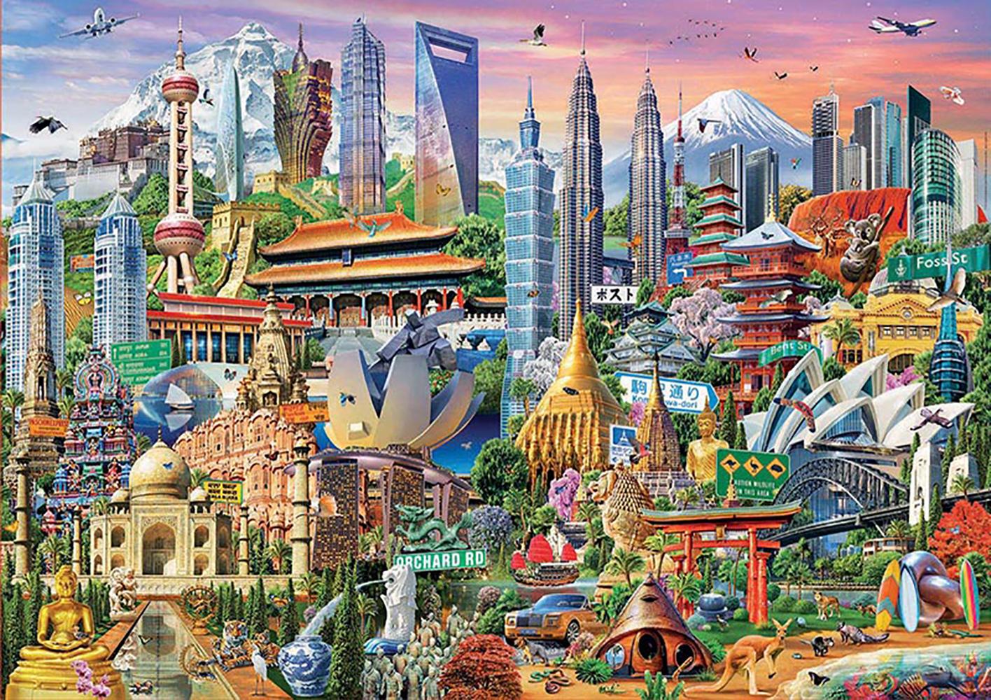 Puzzle 1500 pieces - Asia Landmarks