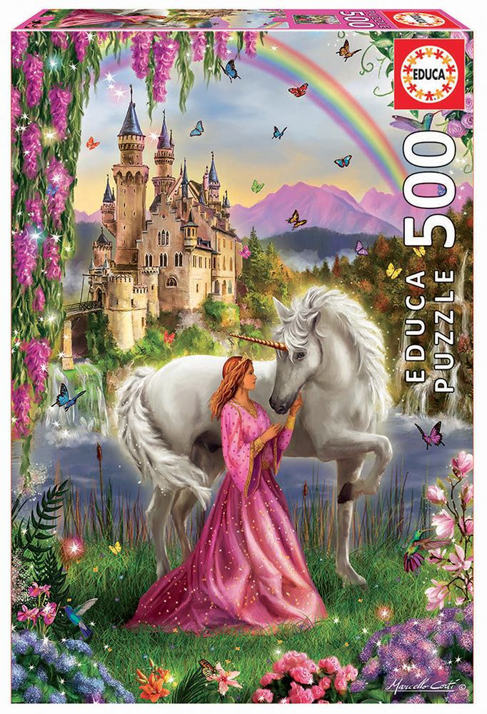 500 pieces puzzle - Fairy and Unicorn