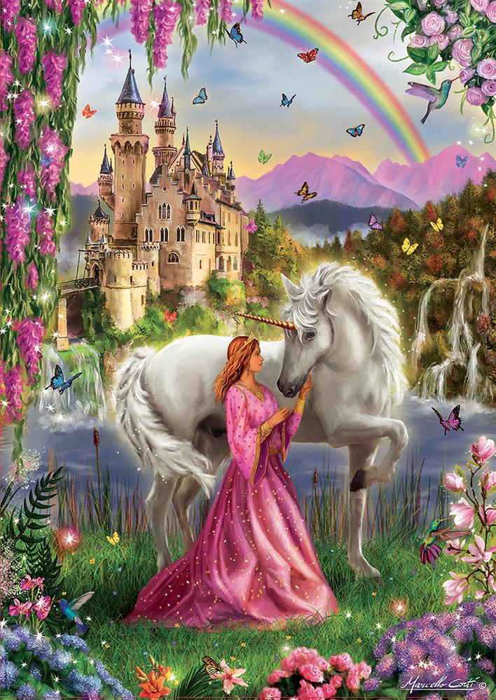 500 pieces puzzle - Fairy and Unicorn
