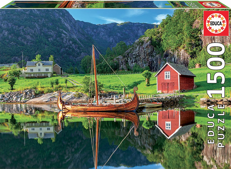 Puzzle 1500 pieces - Viking Ship