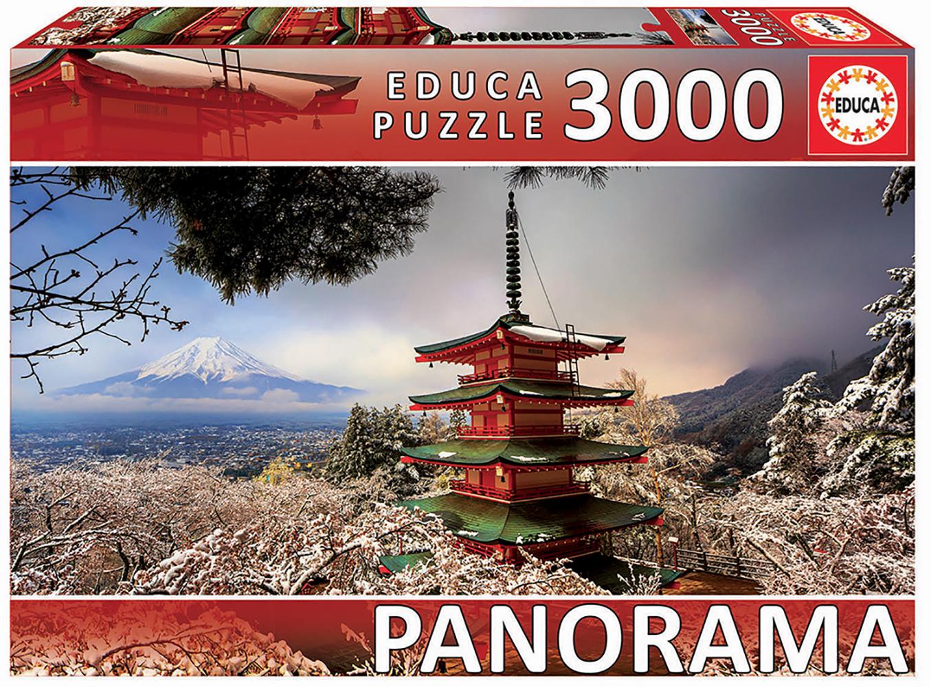 3000 pieces puzzle - Mount Fuji and Chureito Pagoda