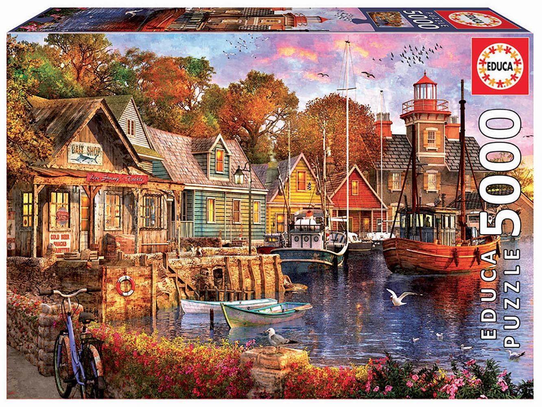Puzzle 5000 pieces - The Harbour Evening