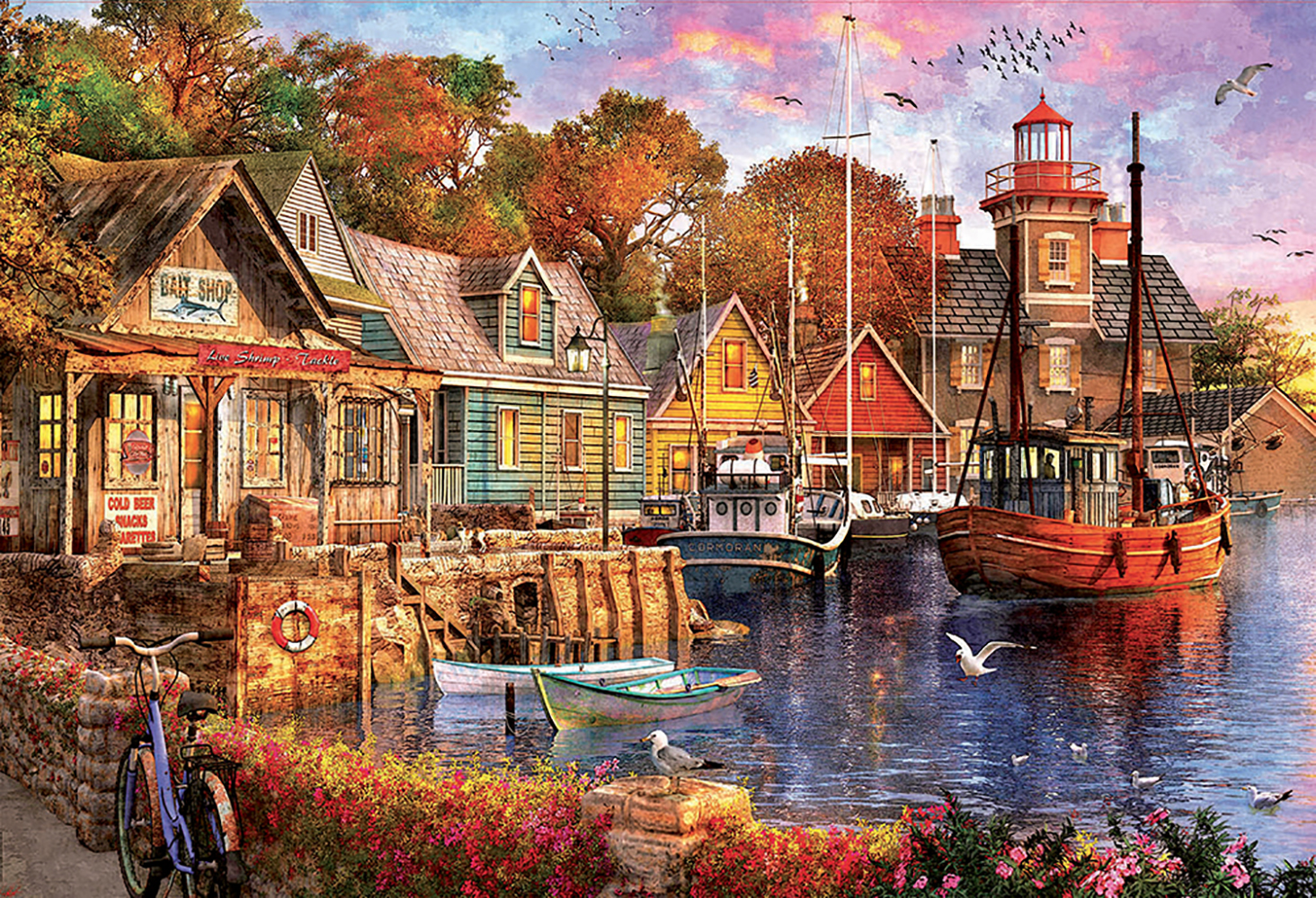 Puzzle 5000 pieces - The Harbour Evening