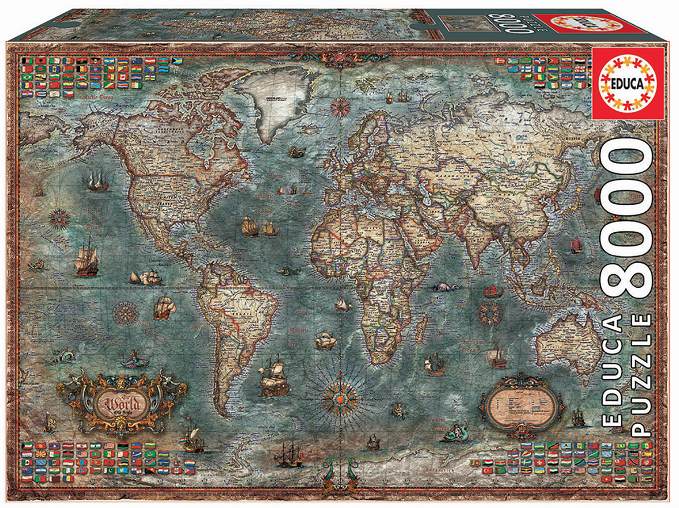 8000 pieces puzzle - Historical World Map