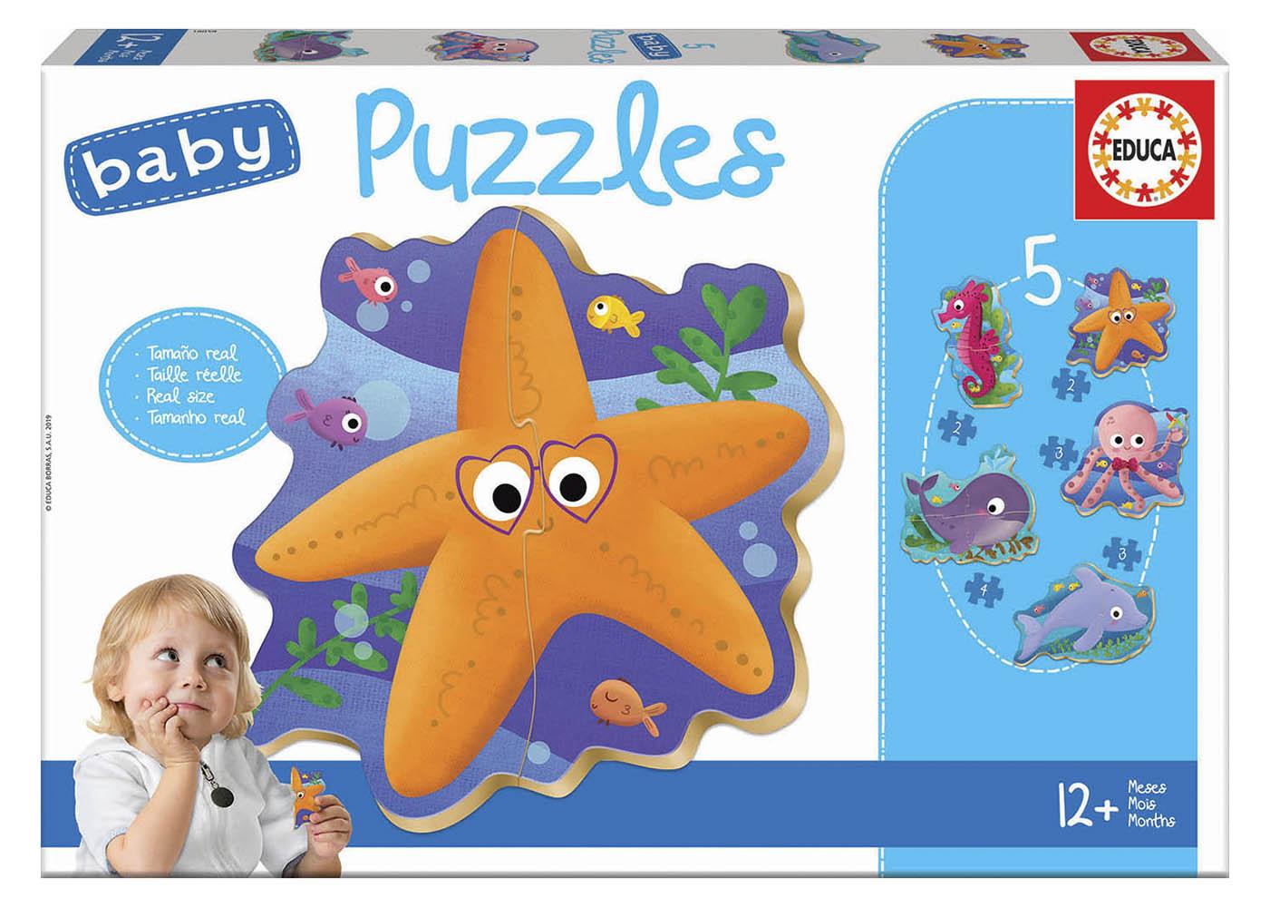 5 Baby Puzzles Sea Animals