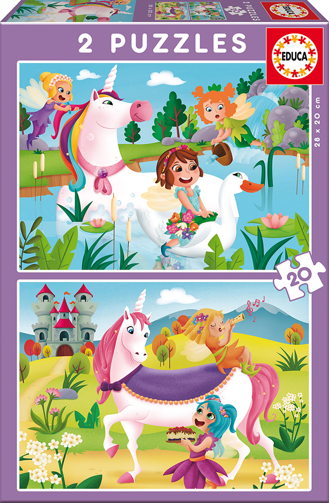 2x20 puzzles - Unicorns and Fairies