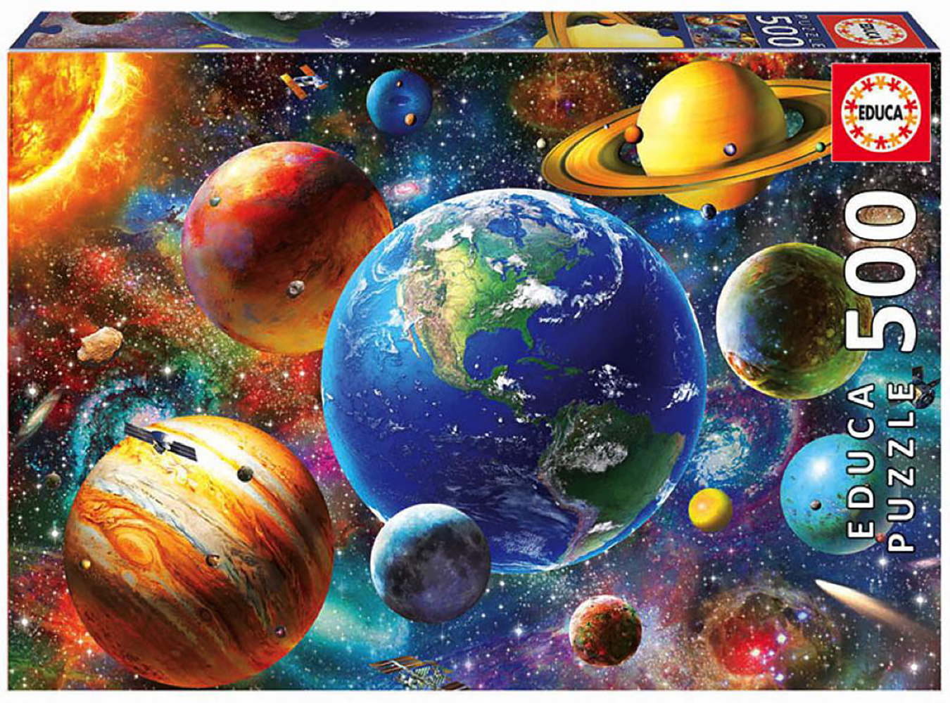 500 pieces puzzle - Solar system
