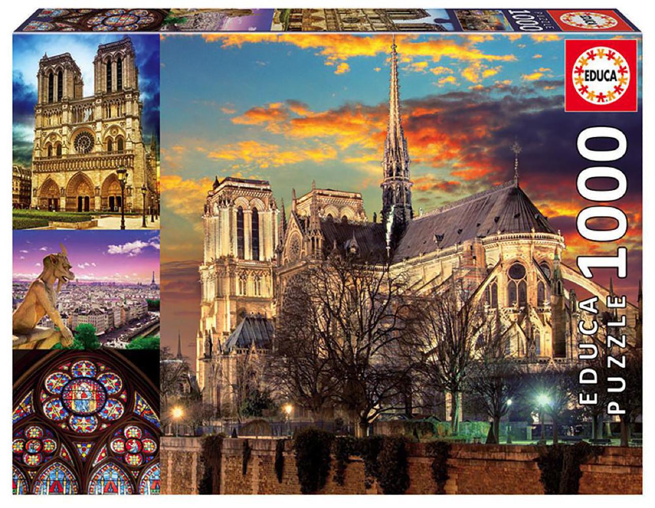 1000 pieces puzzle - Notre-Dame Collage