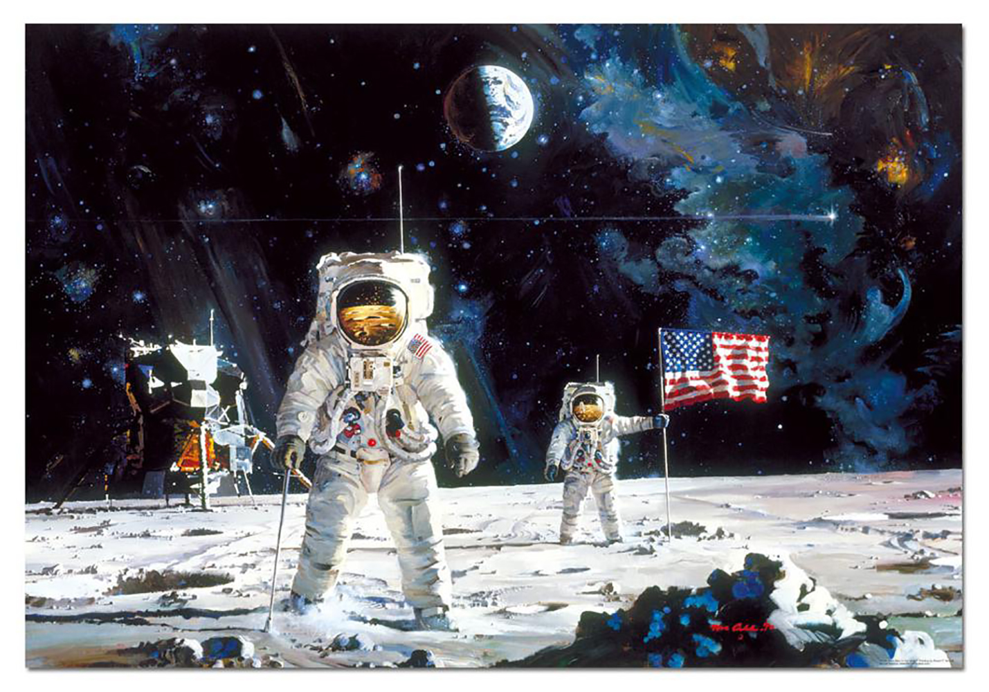 1000 pieces puzzle - First men on the moon, Robert McCall