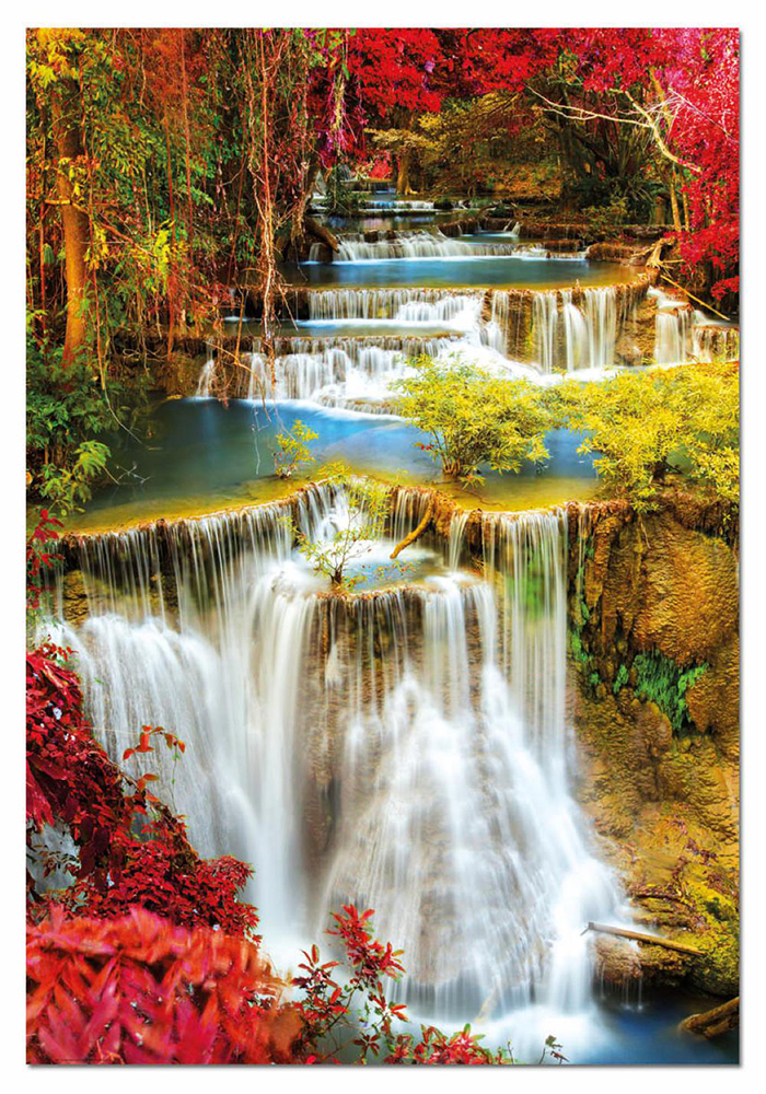 1000 pieces puzzle - Waterfall in deep forest