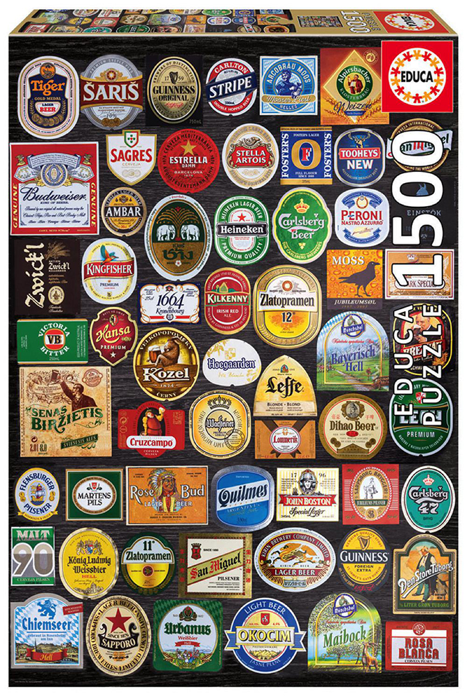 1500 pieces puzzle - Beer labels collage