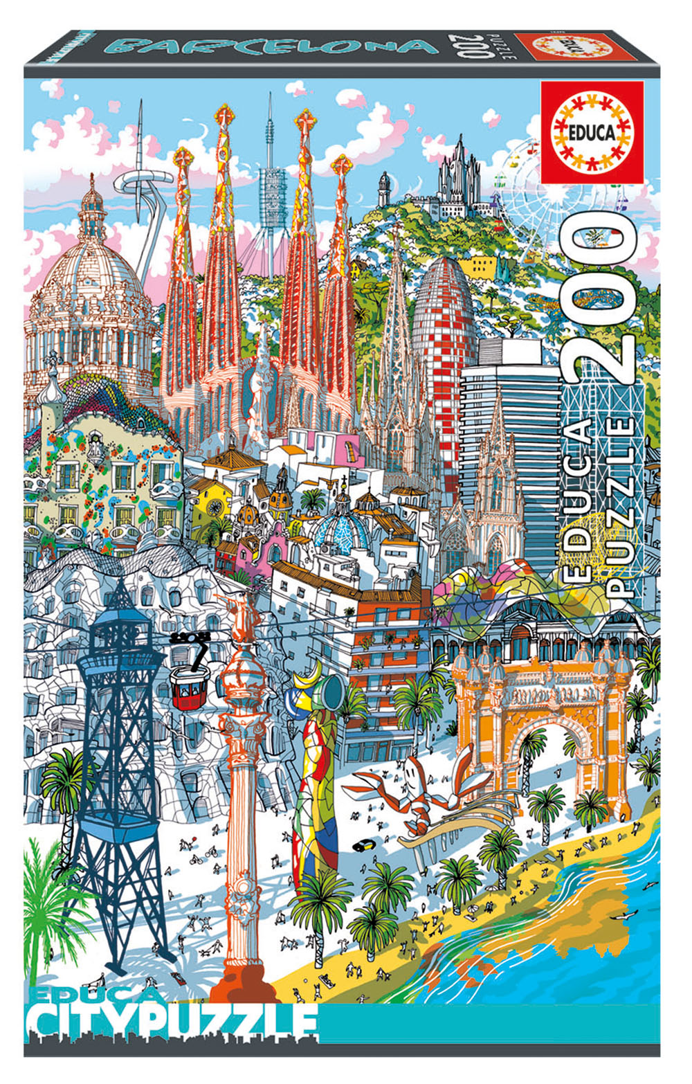 200 pieces City puzzle - Barcelona