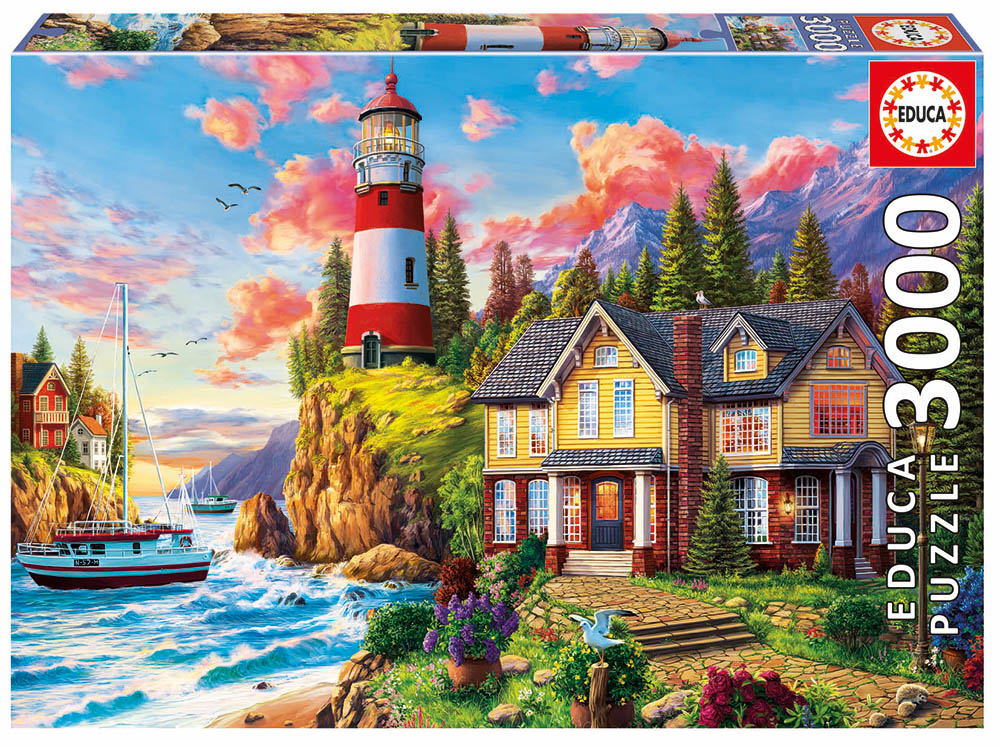3000 pieces puzzle - Lighthouse near the ocean