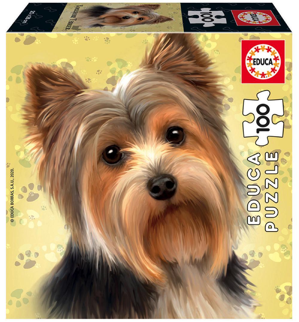 Cube Puzzle 100 pieces - Dog Yorkshire Terrier