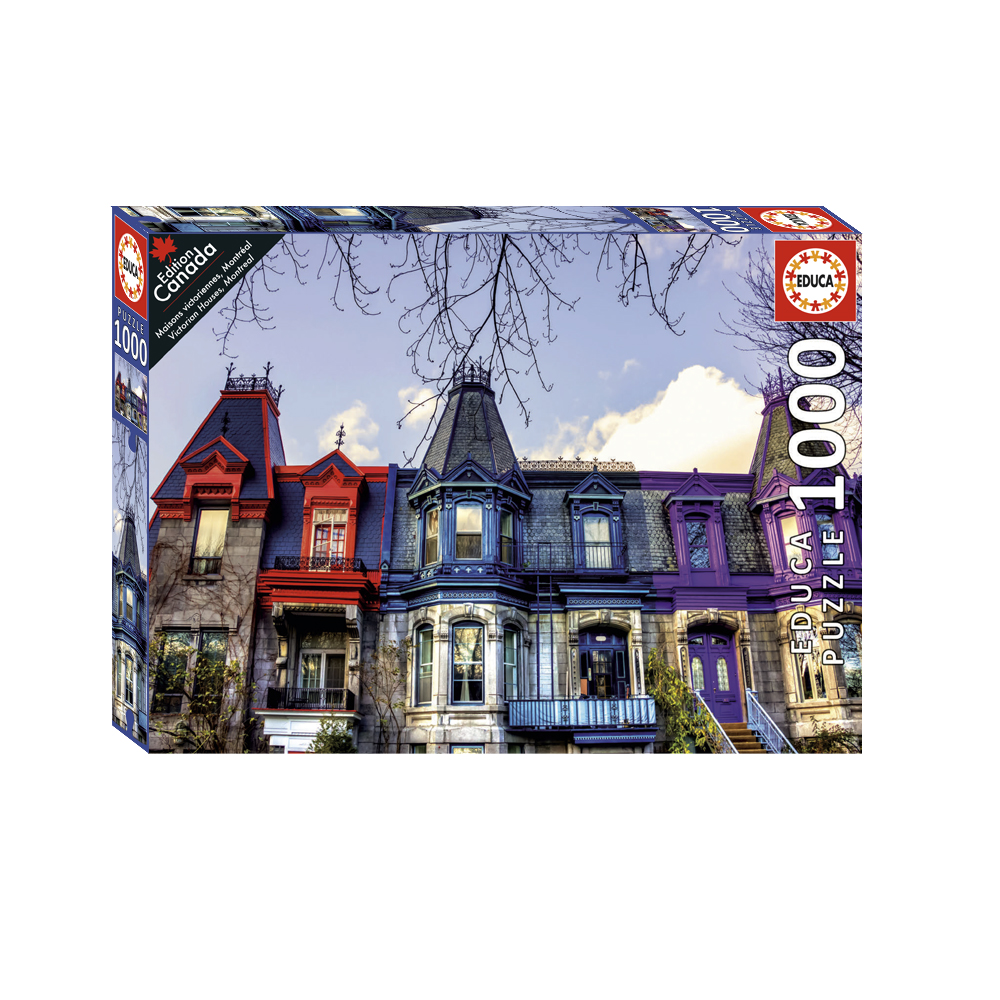 1000 pieces puzzle - Victorian Houses, Montreal