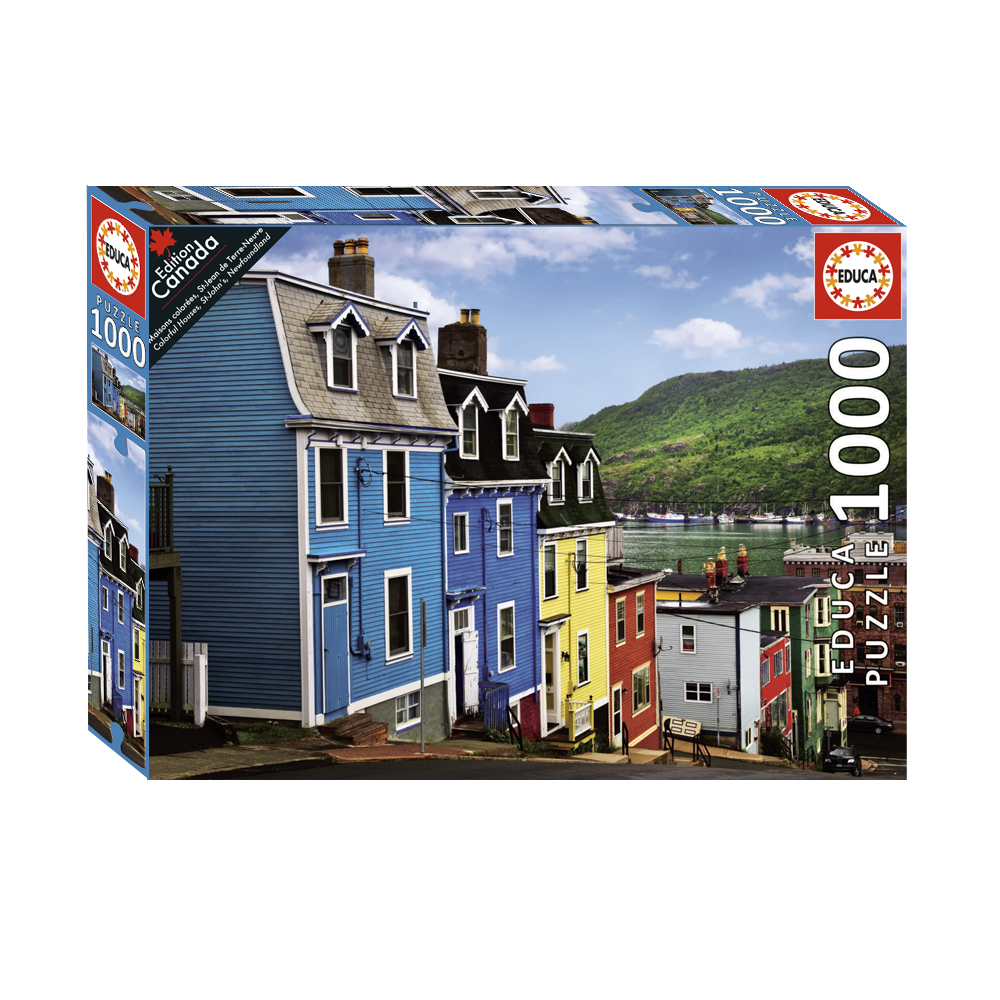 1000 pieces puzzle - Colourful Houses, St-John's, Newfoundland