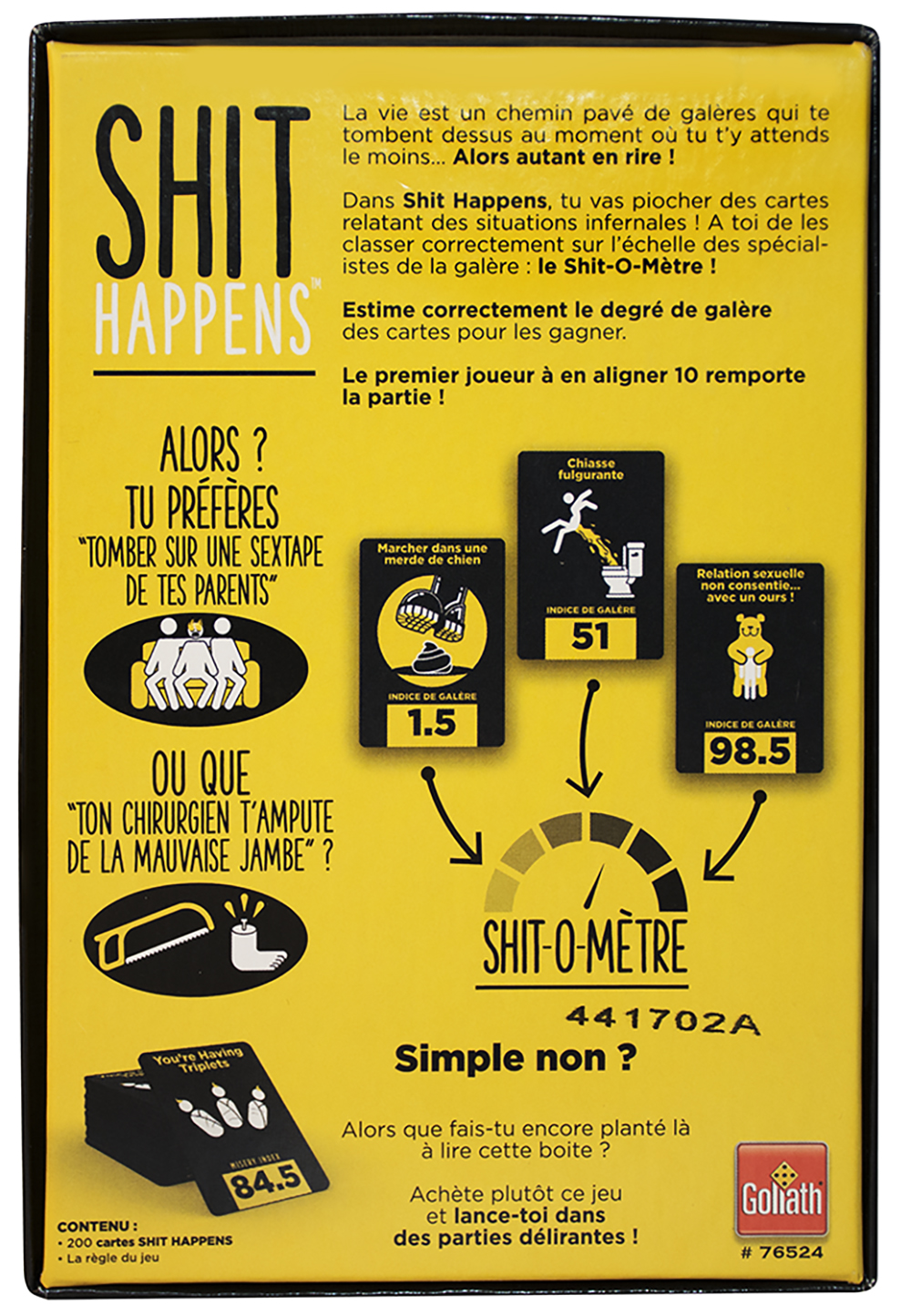 Game Shit Happens French version