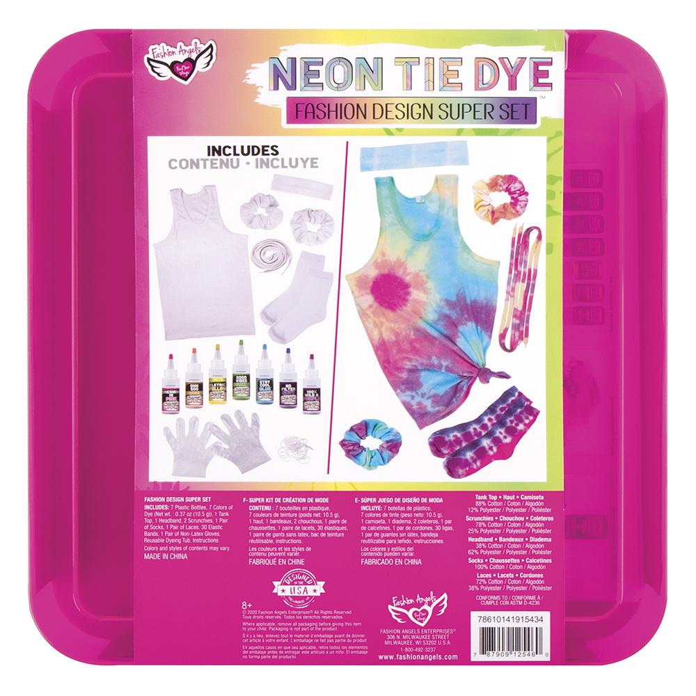 Fashion Angels - Neon Tie Dye- Fashion Design Super Set