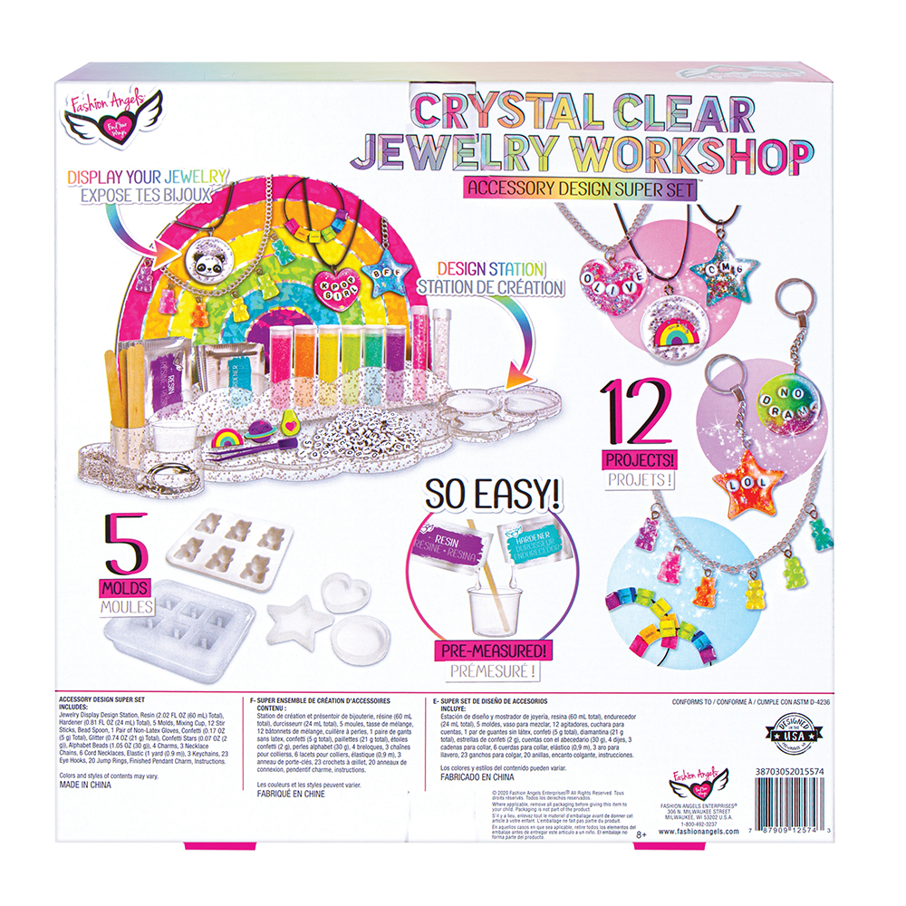 Fashion Angels- Crystal Clear Jewelry Workshop Super Set