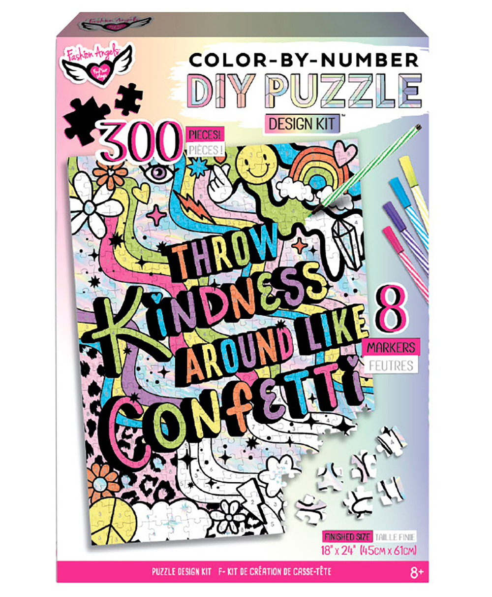 Fashion Angels - Throw Kindness Like...DIY Color By Number Puzzle