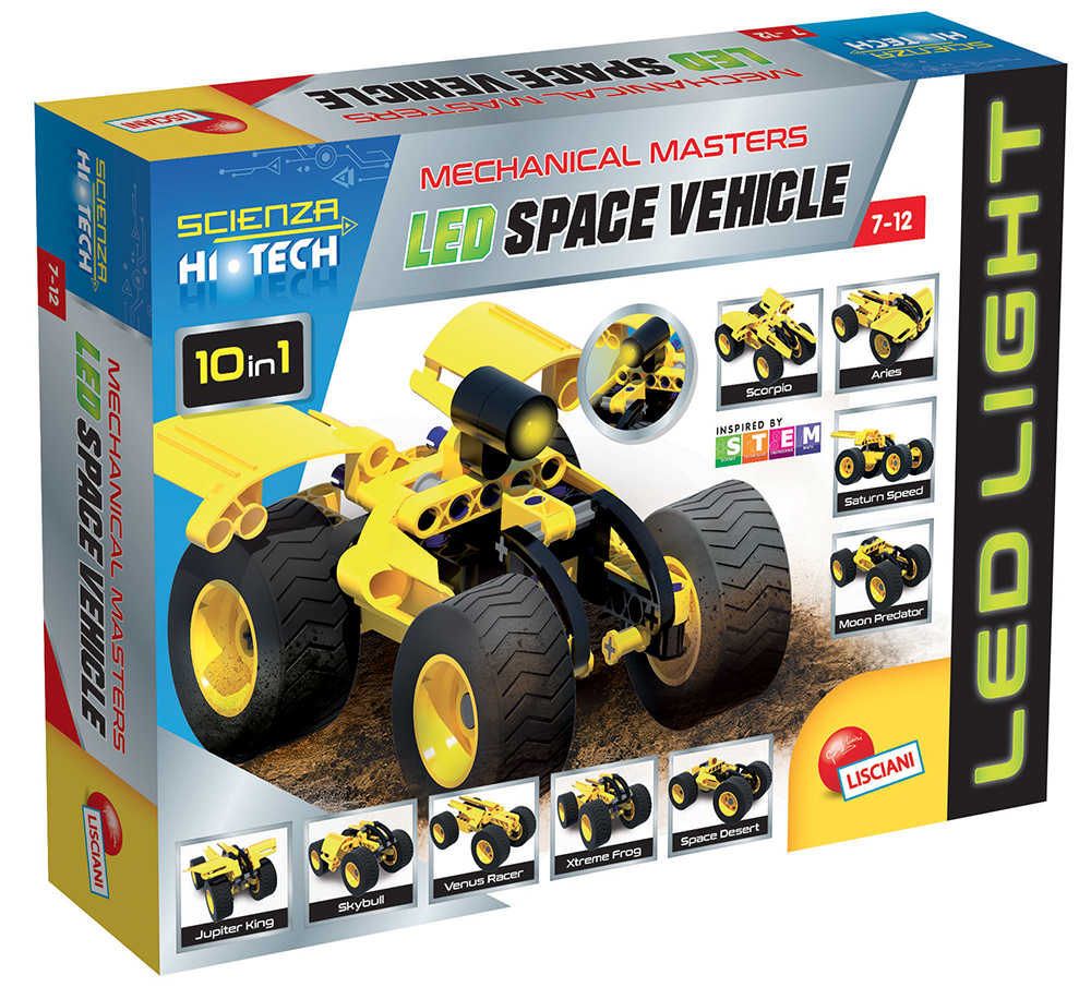 Science Hi-Tech- 10in1 Space vehicle with LED