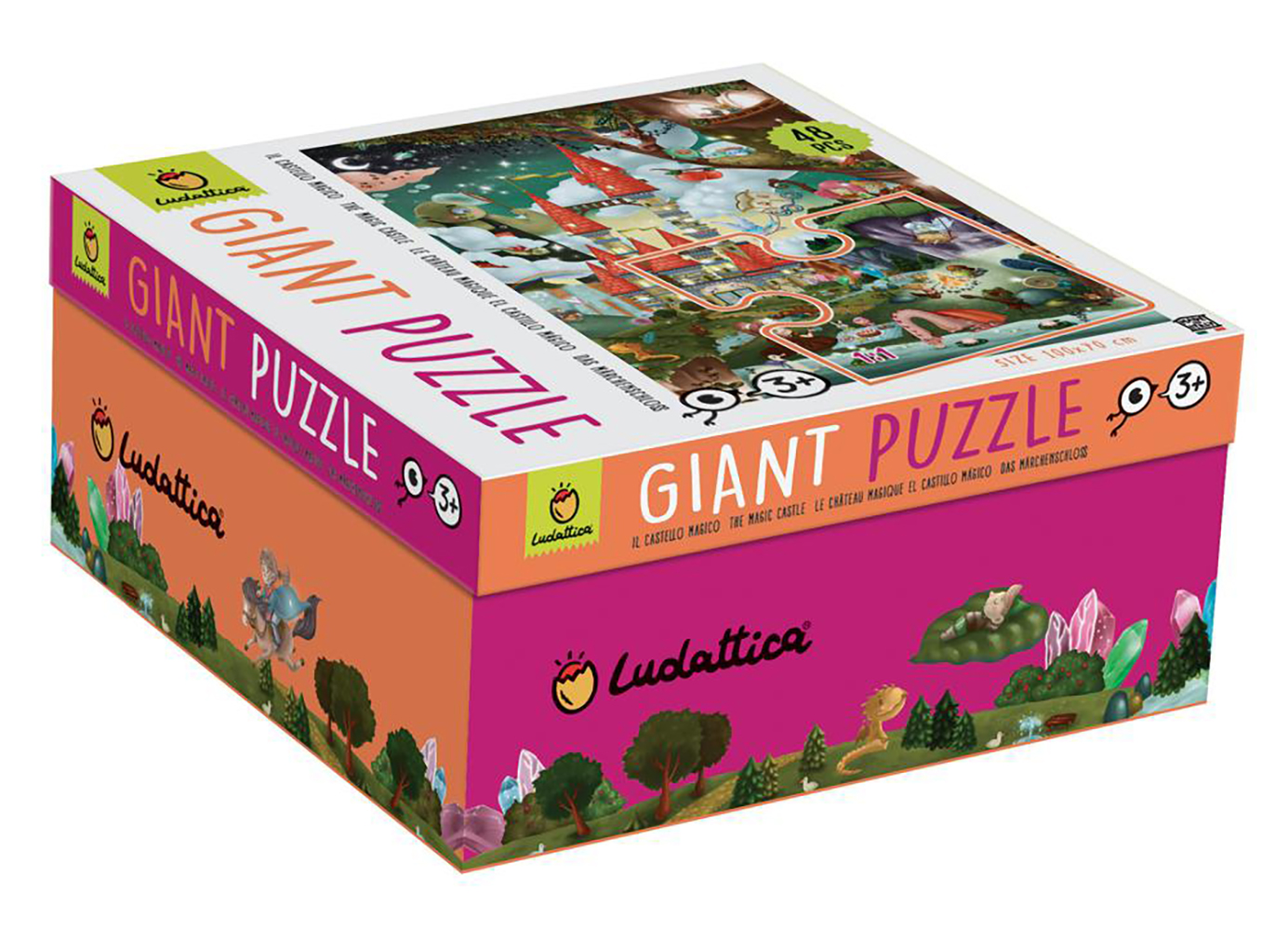 Ludattica 48 pieces Giant puzzle The Magic Castle