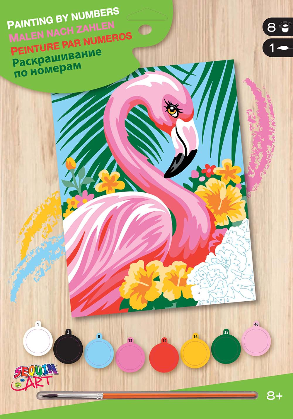 Paint by numbers junior - Flamingos