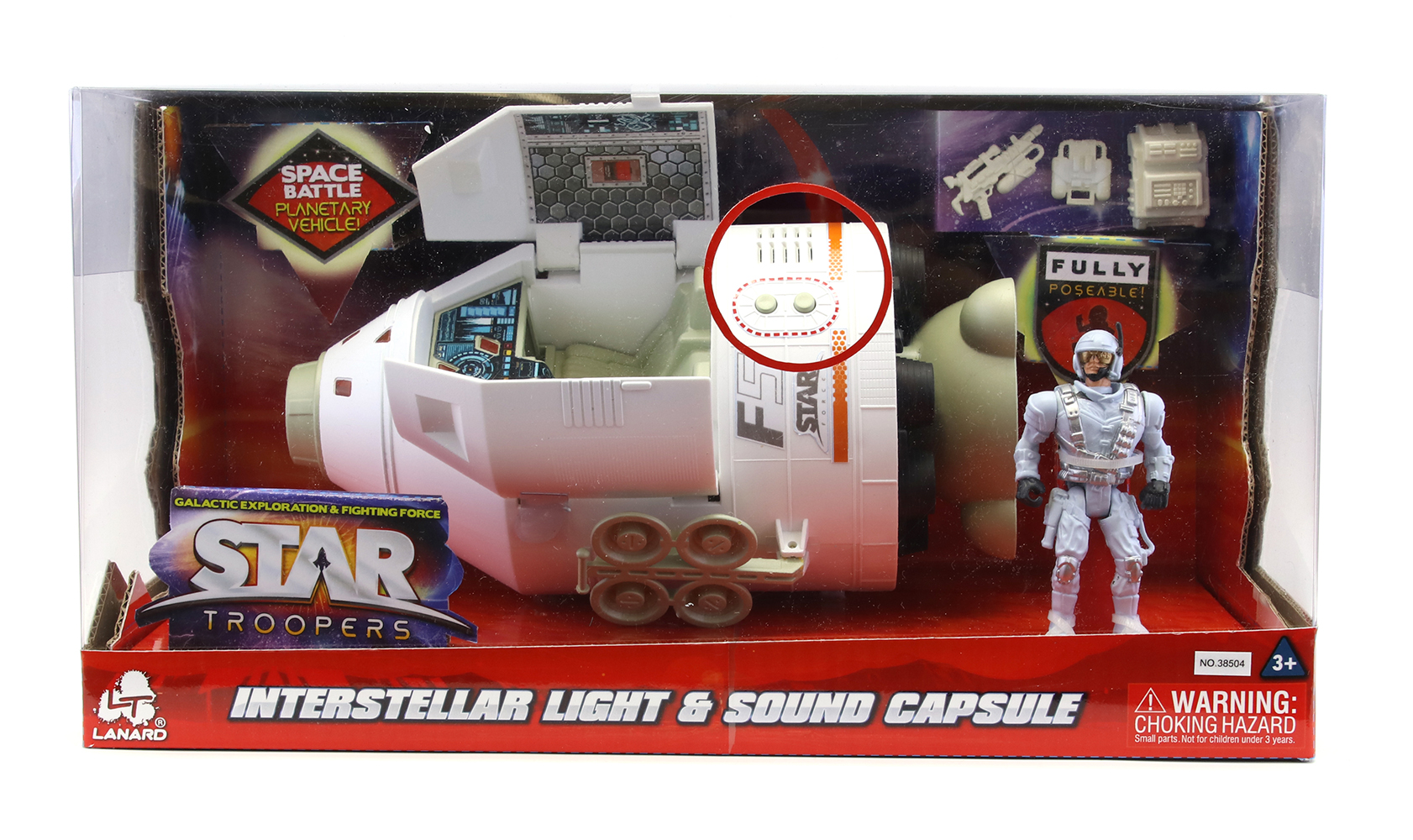 Star Troopers - Interstellar Capsule Light and sound