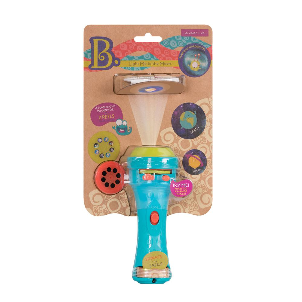 B.Lively - Light Me to the Moon Projector Flashlight-Blue