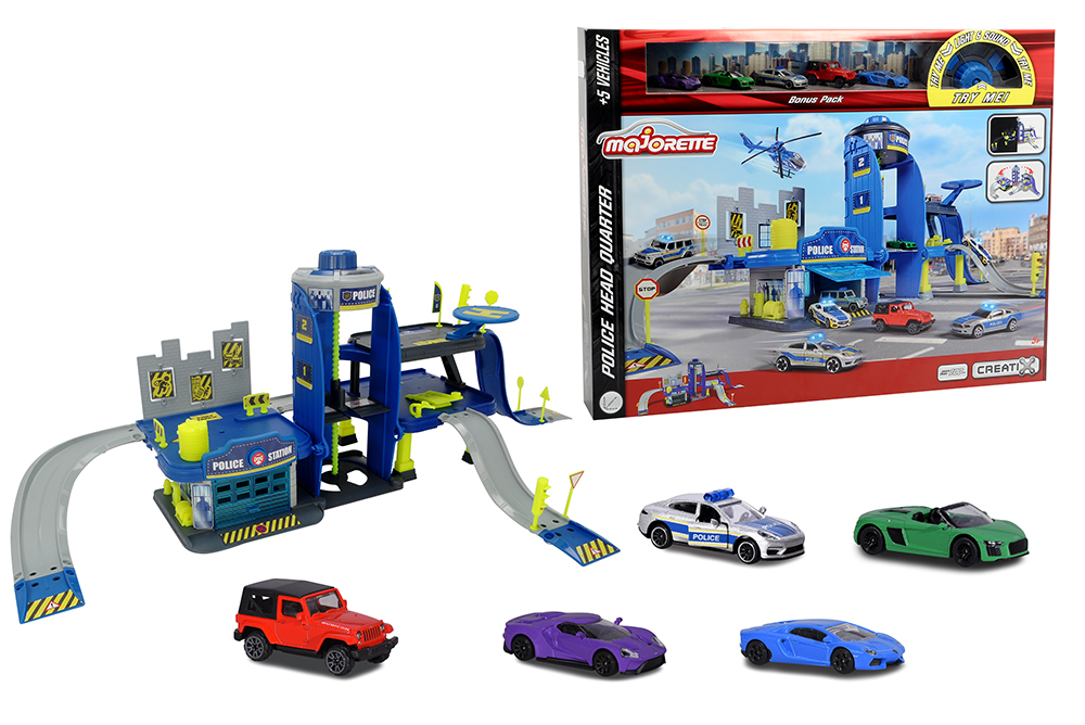 Majorette - Creatix Police Playset with 5 cars