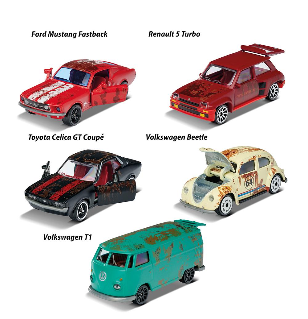Majorette - Vintage Rusty Cars 5 pieces set