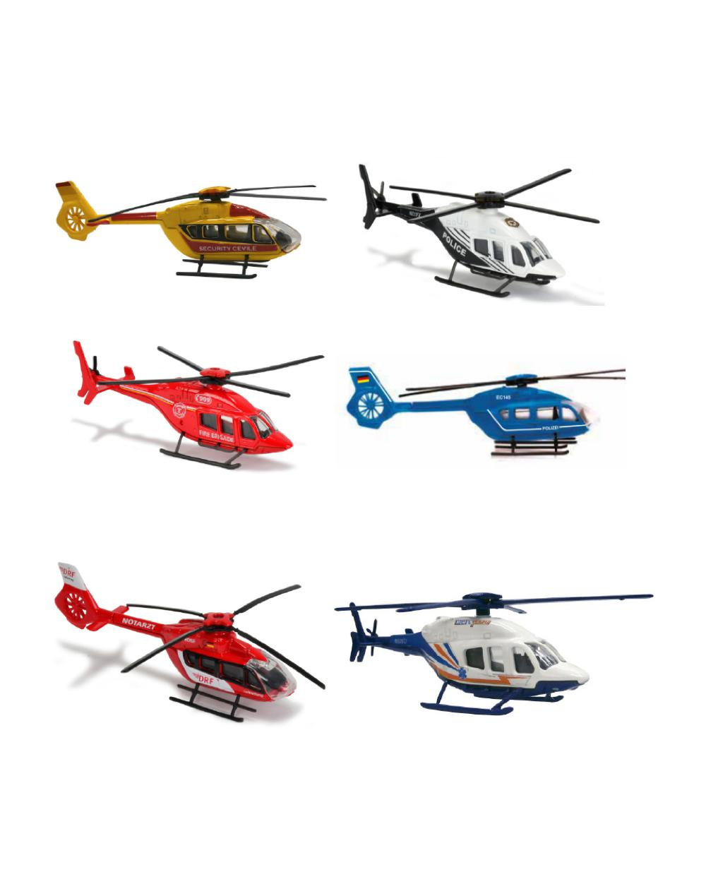 Majorette Helicopter Range 18 models assorted
