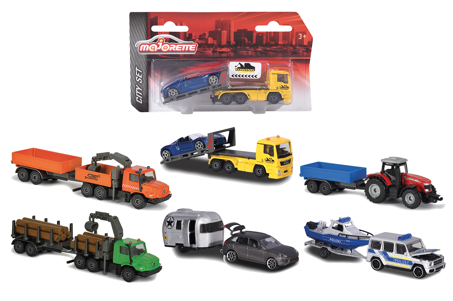 Majorette Trailer assorted