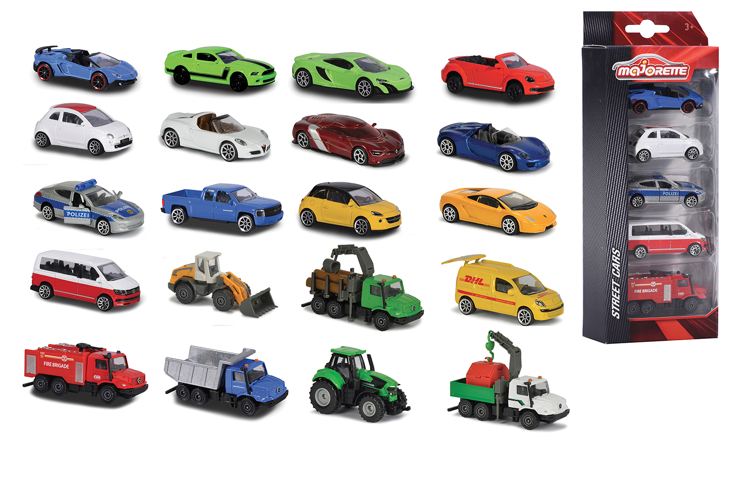 Majorette - 1:64 Cars 5 pieces set assorted