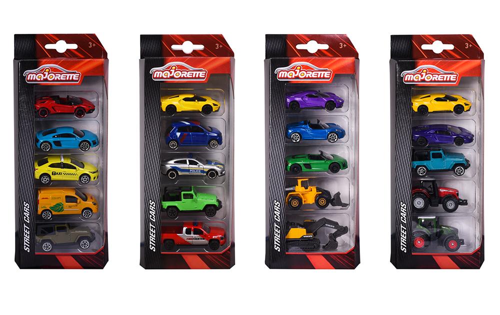 Majorette - 1:64 Cars 5 pieces set assorted