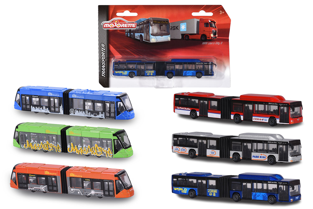 Majorette City bus assorted